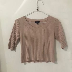 Topshop Pink Short Sleeve Sweater